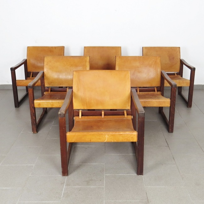 Leather armchairs - Karin Mobring (6 pieces)